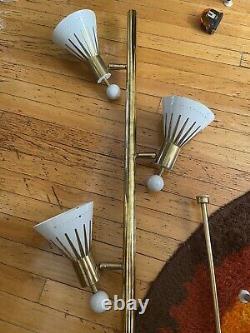 Rare Stiffel Vtg Mid Century Modern Tension Pole Lamp Retro High Heel Fn Atomic