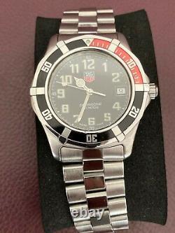 Rare Stunning TAG Heuer 2000 Series Coke Bezel Watch Box & Papers WM1112