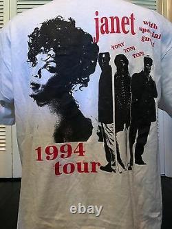 Rare Vintage 1994 Janet Jackson Tony Toni Tone Shirt Sz XL Rap Hip Hop Pop