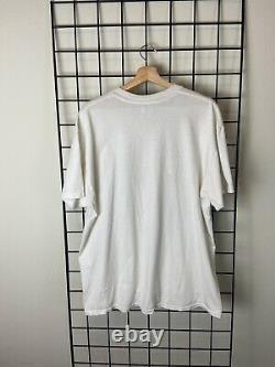 Rare Vintage 1996 Dennis Rodman Bad As I Wanna Be White T-shirt Size XL