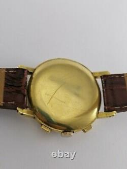 Rare Vintage 9033 Movado M90 Chronograph 18K Solid Gold Men watch 37 mm