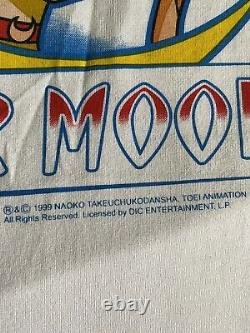 Rare Vintage 90s Sailor Moon Japanese Anime Cartoon Promo T Shirt 1999