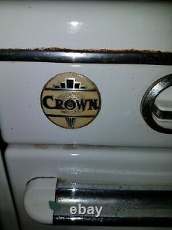 Rare Vintage Crown Works White Gas Stove. Great Condition