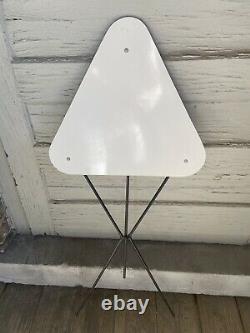 Rare Vintage Tripod Side Table Mid Century Mod Space Age Triangle Folds Retro