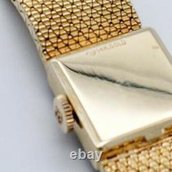Rolex 14K Yellow Gold Ladies Rare Vintage Wrist Watch, Mesh Bracelet-S