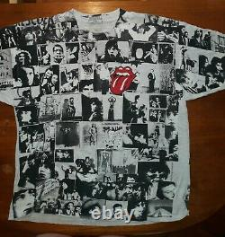 Rolling Stones Exile on Main Street 1995 all over print shirt rare vintage XL