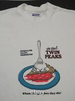 Super Rare Twin Peaks T-shirt Vintage Where Pies Go Die Diner David Lynch XL