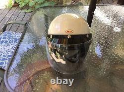 Super rare bell magnum racing helmet + visor + face shield sz 7-3/8 xlnt