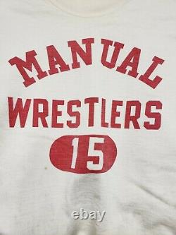 VTG 50s CHAMPION wrestling sweatshirt RARE DOUBLE LAYER /LINED! RUNNING MAN TAG