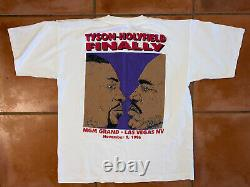 VTG 96 RARE Mike Tyson HOLYFIELD MGM Grand Collectable Boxing Shirt Rap Tee XL