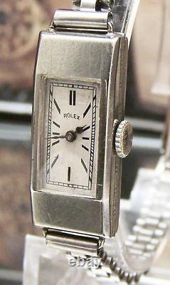 V Rare Antique Vintage Art Deco 1931 Rolex Princess Swiss Solid Gold Watch