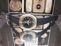 V Rare Vintage Swiss Oris Chronoris Star Chronostop Watch + Box & Papers