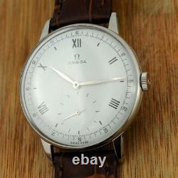 Very Rare Omega Ref 2319 Steel Manual Wind Cal 30t2 Vintage 1944' Gents Watch