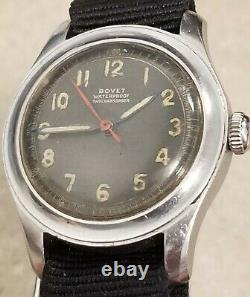 Very Rare Vintage 1940s BOVET WWII MILITARY Watch Manual Wind Runs Good