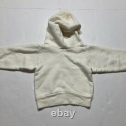 Vintage 1960s 70s Peanuts Crewneck Hoodie Sweater Rare White Linus Baby Infant