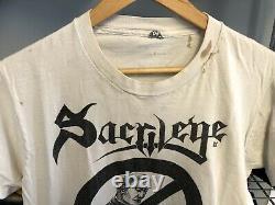 Vintage 1988/89 Sacrilege BC Too Cool To Pray T Shirt RARE! White Thrash Metal