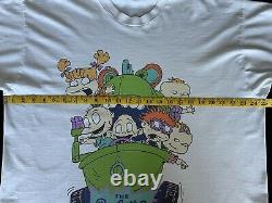 Vintage 1998 Nickelodeon The Rugrats Movie Promo T Shirt Rare Size XL 90s Vtg
