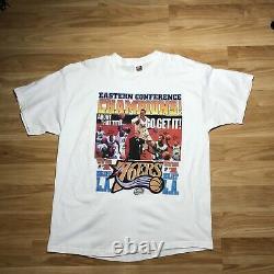 Vintage 2001 Allen Iverson Philadelphia 76ers NBA Basketball T Shirt XXL RARE
