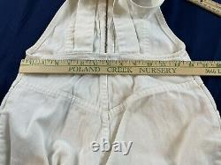 Vintage 70's Levi's White Tab White Jeans Bell Bottoms Overalls Jumpsuit RARE