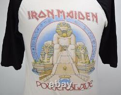 Vintage 80s Iron Maiden 1984 Power Slave Rock Tour T Shirt Rare