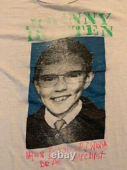 Vintage 80s Johnny Rotten Anarchist Sex Pistols Tee Shirt Size Small RARE