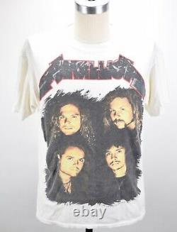 Vintage 90's Metallica 1991 Brockum Rock Concert Tour T Shirt Mens L Rare