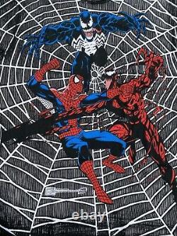 Vintage 90s Marvel Comic Images Spiderman Venom Carnage Shirt XL Rare Mega Print