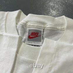 Vintage 90s Nike T Shirt USA Rare Single Stitch ACG Rollerblade Art Tee XL White