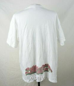 Vintage 90s Tagger Graffiti Raver T-Shirt XL White VTG Tribal Conart RARE