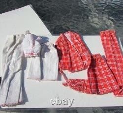 Vintage Barbie Doll Sears Exclusive Sweet 16 White Plaid Outfit Rare Mod 1970's