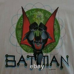 Vintage Batman Beyond T Shirt XL DC Comics White Hanes Rare Screen Stars