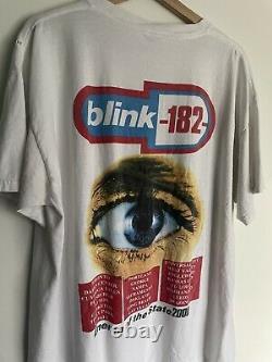 Vintage Blink 182 Enema of the State Tour Tee Shirt 2000 Rare XL