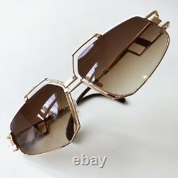 Vintage CAZAL 961 col 332 Germany white gold rare sunglasses 90s unisex