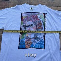 Vintage Frida Kahlo T Shirt XXL Art Rap Tee Keith Haring Monet Escher Dali RARE