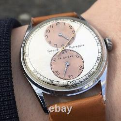 Vintage Girard Perregaux Regulator Mens Watch Original Dial Extremely Rare