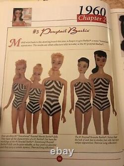 Vintage Mattel 1960 Rare Ponytail Barbie Doll Black/White STRIPED Bathing Suit