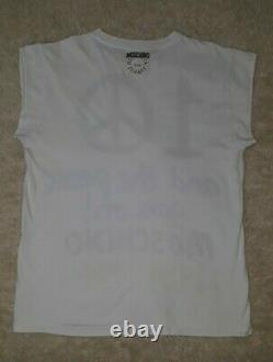 Vintage Moschino Tshirt RARE Sold out 1984 -1994 Peace Sign Designer XL 90s 80s