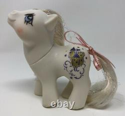 Vintage My Little Pony G1 MLP Baby Princess Sparkle Purple Symbol RARE