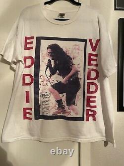 Vintage Pearl Jam Eddie Vedder T Shirt Rare 90s Size XL