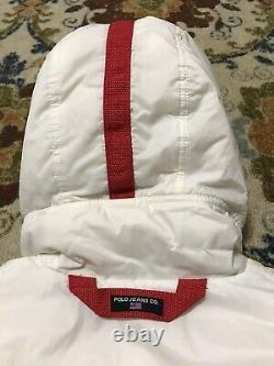 Vintage Polo Jeans Nasa Co RL White Puffer Parka Jacket Sz M Rare Archive OG Ski