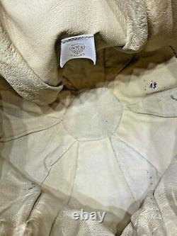 Vintage Rare Authentic GUCCI Bucket Bag Leather White & Red Made in Italy