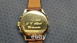 Vintage Rare Ghurka Limited edition wrist watch chronograph moon phase 340/500