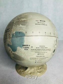 Vintage Rare Replogle Tin Moon Globe with Stand 1962