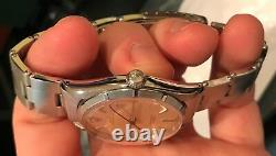 Vintage Rolex Mens Silver dial Oyster Perpetual Watch 6565 34MM C. 1956 RARE