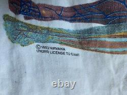 Vintage nirvana in utero tshirt 1993 kurt cobain grunge giant original rare SZ L